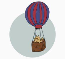 Hot Air Balloon Cat Kids Clothes