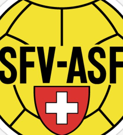 Switzerland Retro Football Sticker