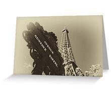 Parisian Postcard - IX Greeting Card
