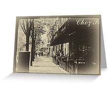 Parisian Postcard - XV Greeting Card