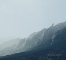 Storm coming over the Flatirons by Melissay