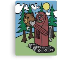 Teddy Bear And Bunny - I Did Good? Canvas Print