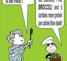 I Like Broccoli Grandma Poster by veganese