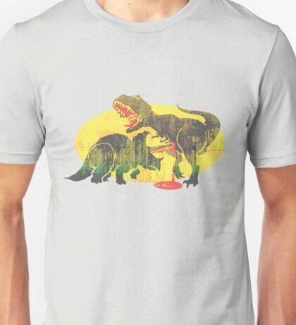 Triceratops vs T Rex Dino Fight Unisex T-Shirt