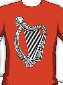 Irish Harp with Skull T-Shirt