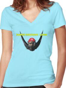 Super Mishima Land Women's Fitted V-Neck T-Shirt