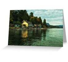 Waterfront Property Greeting Card