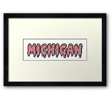 University of Michigan Odd Future Framed Print