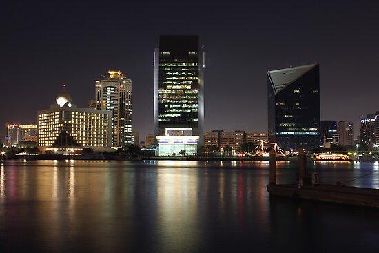 Dubai Creek Skyline by Omar Dakhane