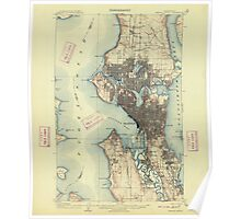USGS Topo Map Washington State WA Seattle Special 243626 1909 62500 Poster