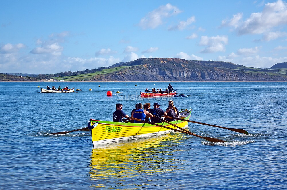 Gig Races ~ Lyme Regis Regatta by Susie Peek