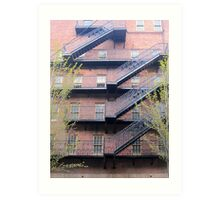 bricks-and-stairs Art Print