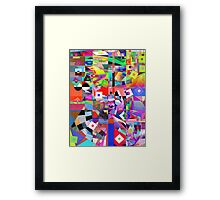 Futurist Wearing a Tall Hat. Framed Print