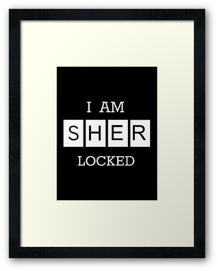"""""""I Am Sherlocked"""" Poster by Lynsey Campbell"""