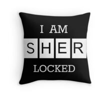 """I Am Sherlocked"" Poster Throw Pillow"