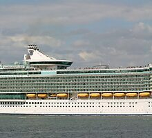 Cruise Ship Pano by RedHillDigital