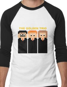 The 8 Bit Golden Trio Men's Baseball ¾ T-Shirt
