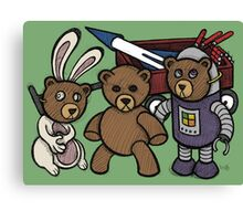 Teddy Bear And Bunny - Spies Among Us Canvas Print