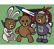 Teddy Bear And Bunny - Spies Among Us Photographic Print