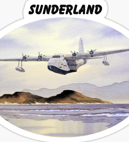 Sunderland Aircraft Sticker
