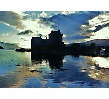 Eilean Donan Castle - Saltire  Photographic Print
