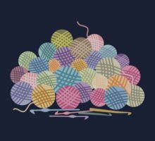 colorful crochet hooks balls of yarn by BigMRanch