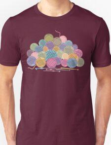 colorful crochet hooks balls of yarn Unisex T-Shirt