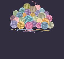 colorful crochet hooks balls of yarn Womens T-Shirt