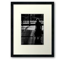 Old Lady in Silhoette Framed Print