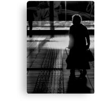 Old Lady in Silhoette Canvas Print