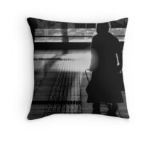 Old Lady in Silhoette Throw Pillow