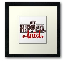 ripped-laid Framed Print