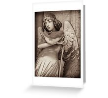 angel of time contemplates Greeting Card