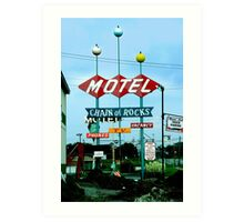 Retro Motel Art Print