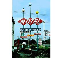 Retro Motel Photographic Print