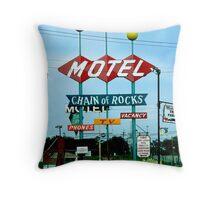 Retro Motel Throw Pillow