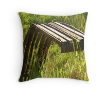 Twisted rusty metal (steel) Throw Pillow