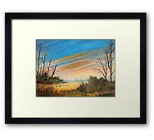 Evening Duck Hunt Framed Print