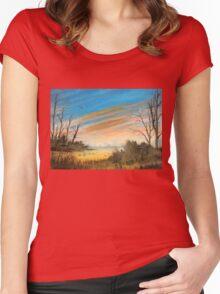 Evening Duck Hunt Women's Fitted Scoop T-Shirt