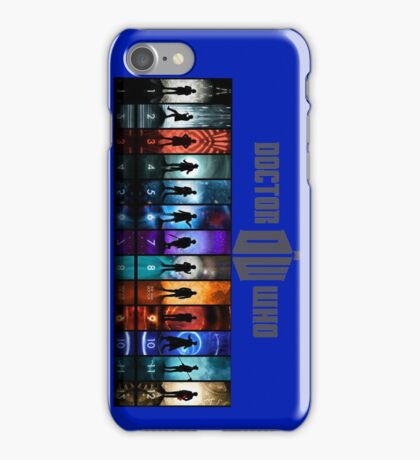 The Doctor Through Time iPhone Case/Skin