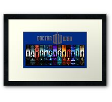 The Doctor Through Time Framed Print