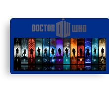 The Doctor Through Time Canvas Print