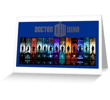 The Doctor Through Time Greeting Card