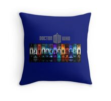 The Doctor Through Time Throw Pillow