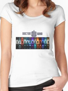 The Doctor Through Time Women's Fitted Scoop T-Shirt