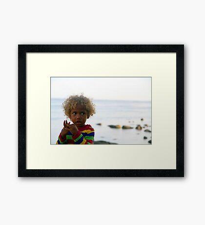 Pure Blond Framed Print