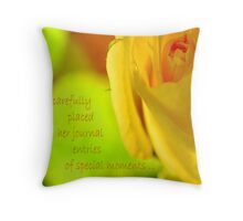 Special Moments Throw Pillow