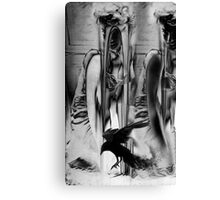 Marylin with Raven. Canvas Print