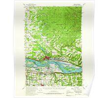 USGS Topo Map Washington State WA Camas 240317 1954 62500 Poster