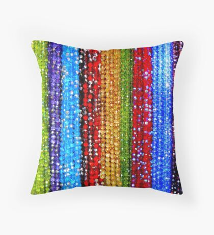 Colourful beads Throw Pillow
